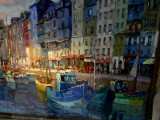 oil painting of Honfleur.