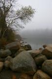 Jordan's Pond with sea smoke.
