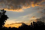 Sunset sky at IISc