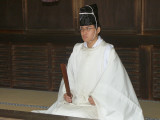 Shinto Priest at Meiji Shrine