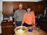 Cheryl and Marty displaying great salad