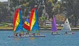 Colorful Sailboats, Lake Merritt