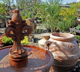 Fountain and antique pots for sale