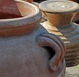 Closeup of pots