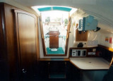 companionway from saloon
