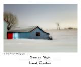 Barn at Night ...