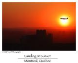 Landing at Sunset ...
