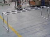 struttura inox satinato lunga per tavolo legno