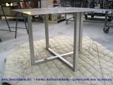 tavolo inox solo struttura satinata - su disegno