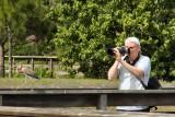 Photographer getting close to wildlife