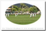 Cricketers - Sir D. Bradmans old stamping ground