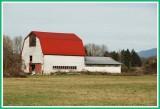 Nice change, red roof, white barn.