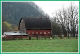 Barn in a fertile valley.