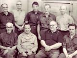 SCS Janitorial Staff - sitting Gerrit Van Trigt, George Lang, John Carpenter, Charles Dickson