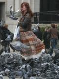 The Pigeon Lady in Trafalgar Square