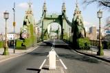 Hammersmith Bridge from the Surrey Bank.