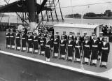 Arethusa guard of honour. 1946