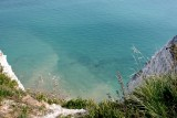 The sea is very shallow below the cliffs of Beachy Head.