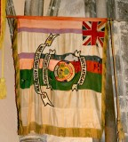 From the Boer War, the oldest flag in the church.