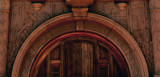 Detail - door surround, St Augustine Cathedral