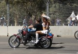 Grid Girls on Harley Parade