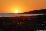 Coucher de soleil depuis le port