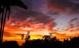 hurricane flossie sunset