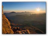 Sunrise on Sinai mountain