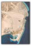 Dahab map from the satellite (captured from © Google Earth)