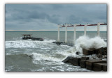 Sochi, storm on the Black sea