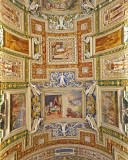 Musei Vaticani, the ceiling of the gallery