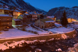 La Thuile at night