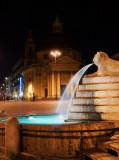 Roma, Piazza del Popolo, Fontana dell' Obelisco