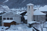 La Thuile after snowfall