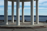 Karelia, Petrozavodsk, the embankment of Onega lake