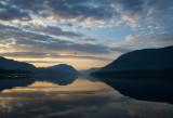 ðàññâåò íà Òåëåöêîì îçåðå / Lake Teletskoe
