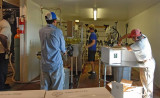 Bottling operation at Fox Run Winery, Geneva, NY