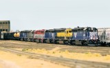 Six custom painted/detailed Proto 2000 SD45s, all MRL.