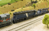 MRL 313, a renumbered/weathered Athearn Genesis SD45-2.