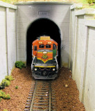 BNSF 4230 exiting the tunnel.