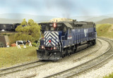 MRL 337 rounding the big curve.