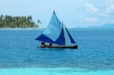 Typical Kuna sailboat