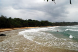 A panoramic view over Red Frog beach
