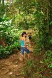 ...very muddy trail!