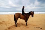 A random kid on a horse