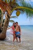 Under a VERY BIG coconut