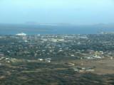 vista de Kralendijk desde el avión