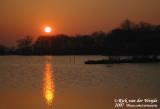 Zonsondergang in Holland