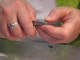 bending wire and making earrings