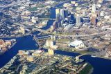 Aerial of downtown Tampa, Florida